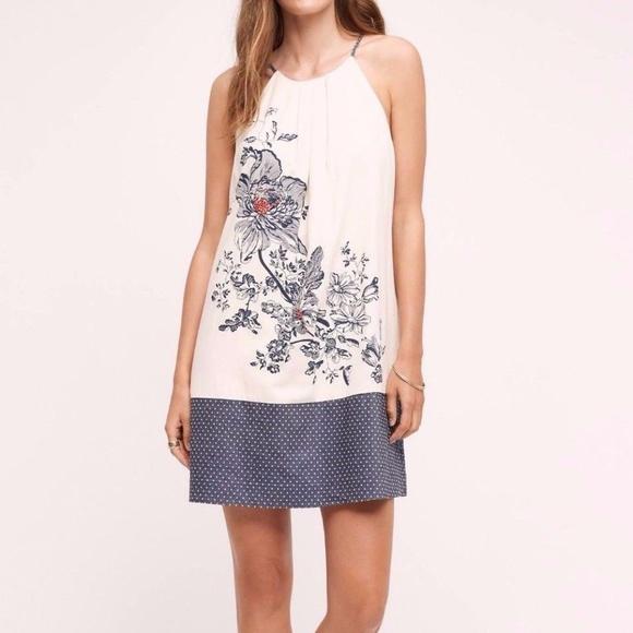 bdec6bd3c27 Anthropologie Sava Silk Halter Dress by Floreat